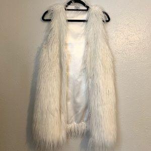 White Faux Fur Vest SZ Small